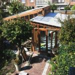 foto van tuinhuizen in Haarlem