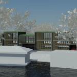 afbeelding van studie naar woningen aan de Buiksloterweg